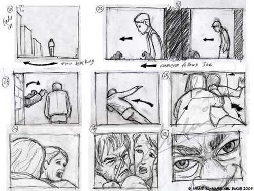 Нарисованный фильм по кадрам